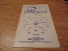 West Bromwich Albion Reserves v Bury Reserves, 1966/67